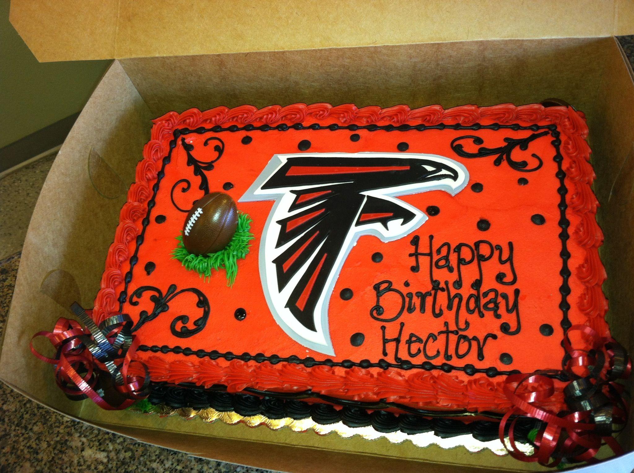 Atlanta Falcon Cake For Hector S Birthday Atlanta Falcons Birthday Atlanta Falcons Cake Falcons Cake