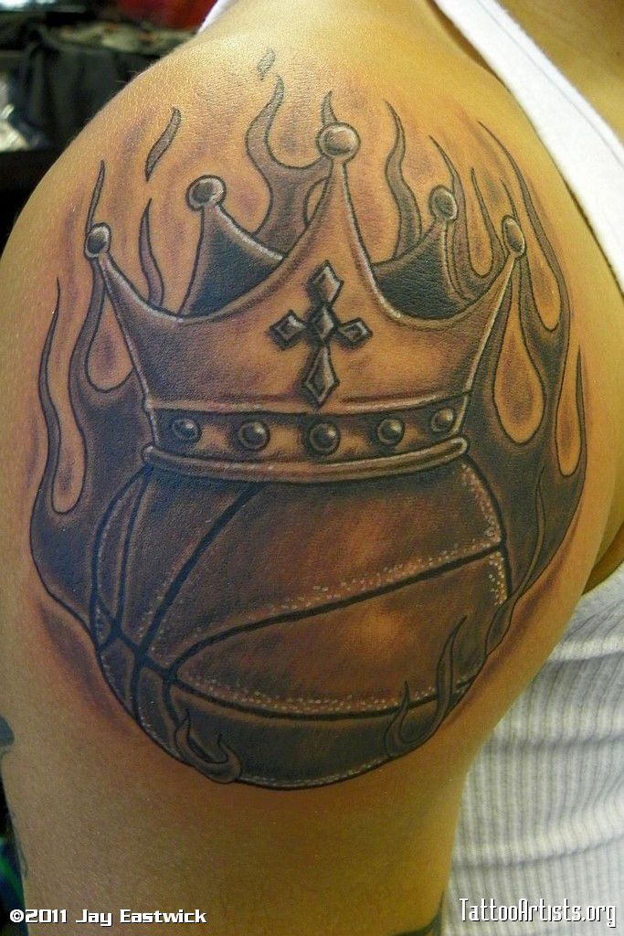basketball tattoos basketball tattoos basketball tattoos basketball rh pinterest com Crown Tattoo Designs Simple Crown Tattoo