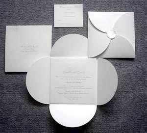 folded invitation origami kirigami pinterest invitations