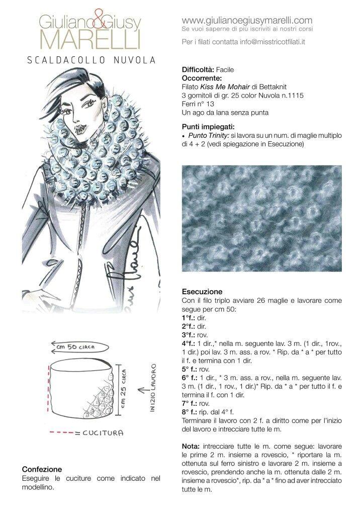 Pin de Lorella Marchioretti en Lavori a maglia | Pinterest