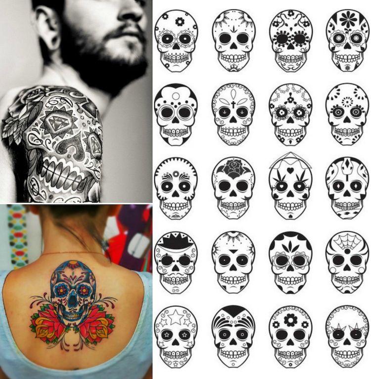 tatouage t te de mort original 40 id es memento mori en styles vari s tatouages t te de. Black Bedroom Furniture Sets. Home Design Ideas