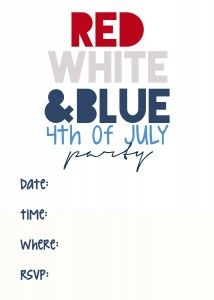 4th Of July Printable Invitations Free Printable Included 4th Of July July Party July