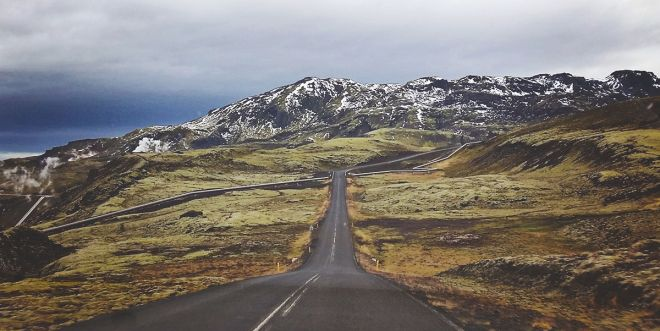 The Golden Circle road