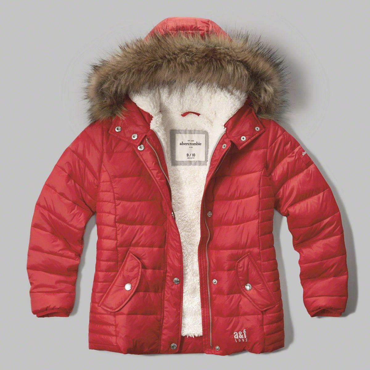 b058be26d9cc girls sherpa-lined puffer jacket