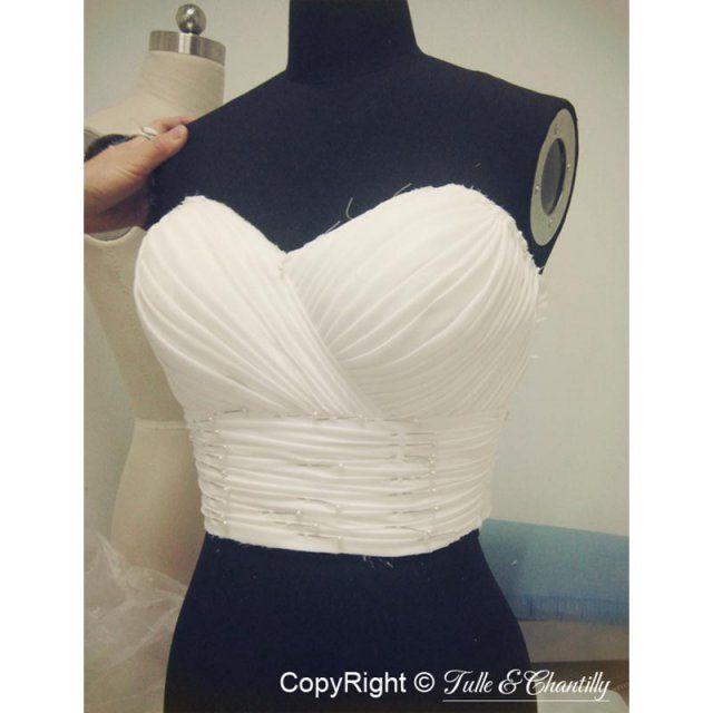 Comment faire une robe longue bustier
