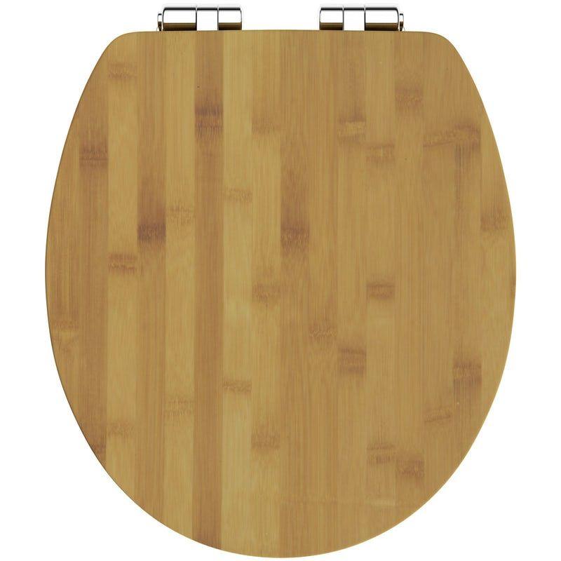 Astounding The Bath Co Bamboo Toilet Seat With Top Fixing Soft Close Inzonedesignstudio Interior Chair Design Inzonedesignstudiocom