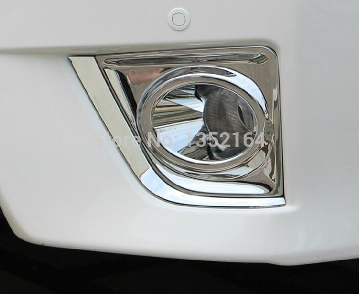 Auto Chrome Accessories,front Fog Light Cover Lamp Trim