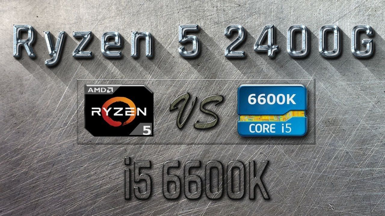 RYZEN 5 2400G vs i5 6600K - BENCHMARKS / GAMING TESTS REVIEW AND