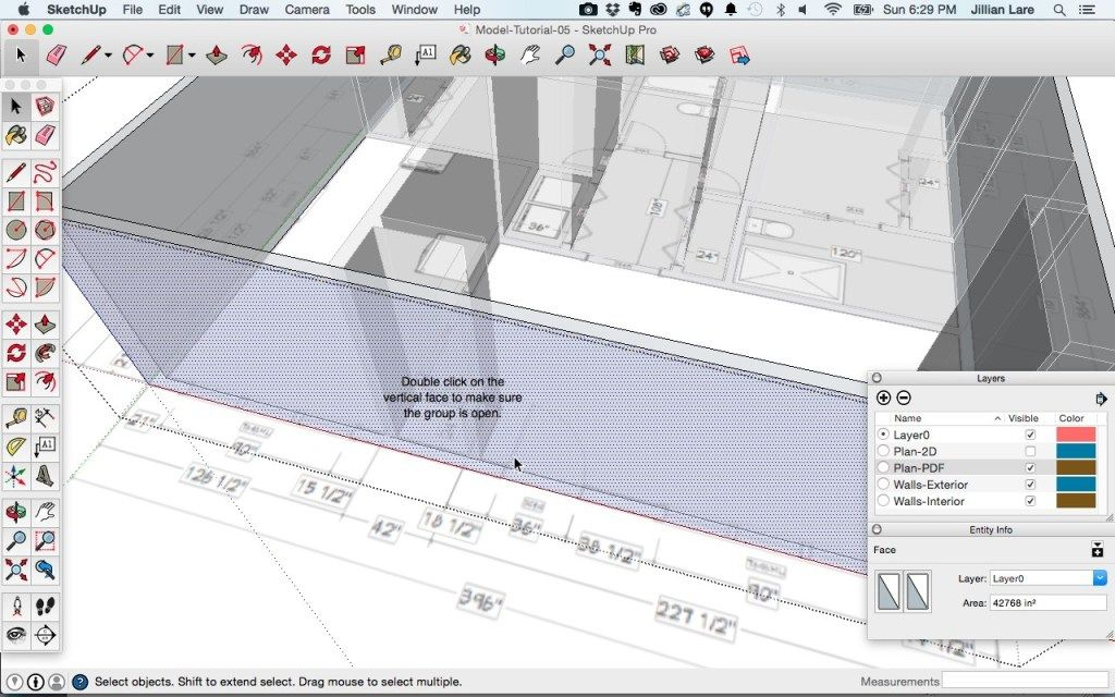 Draw a 3D House Model in SketchUp from a Floor Plan (With