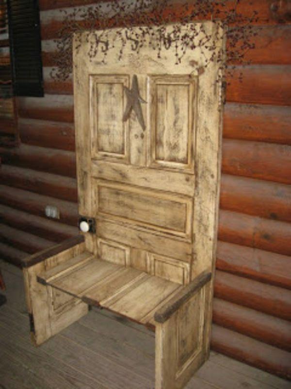 20 ideen f r handgemachte m bel und dekorationen aus alten t ren ideen rund ums haus. Black Bedroom Furniture Sets. Home Design Ideas