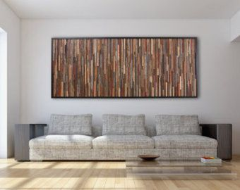Reclaimed wood wall art 37x24x5 Large art by CarpenterCraig & Reclaimed wood wall art 37x24x5 Large art by CarpenterCraig | mobila ...
