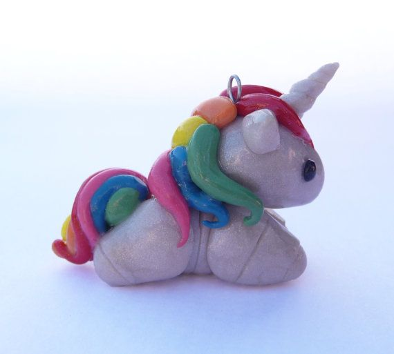 Cute chibi robot unicorn fan art  polymer clay by KawaiKupcakes, $10.00