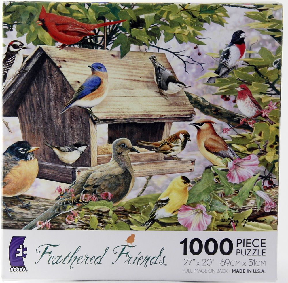 Birds Of A Feather Puzzle 1000 Pcs Used Ceaco 90 Recycled Materials