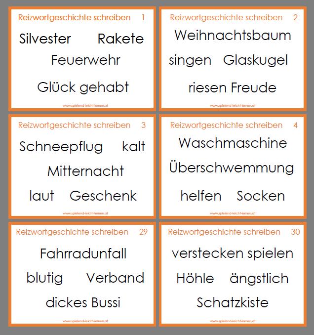 Deutsch Arbeitsmaterialien Erzahlung Reizwortgeschichte