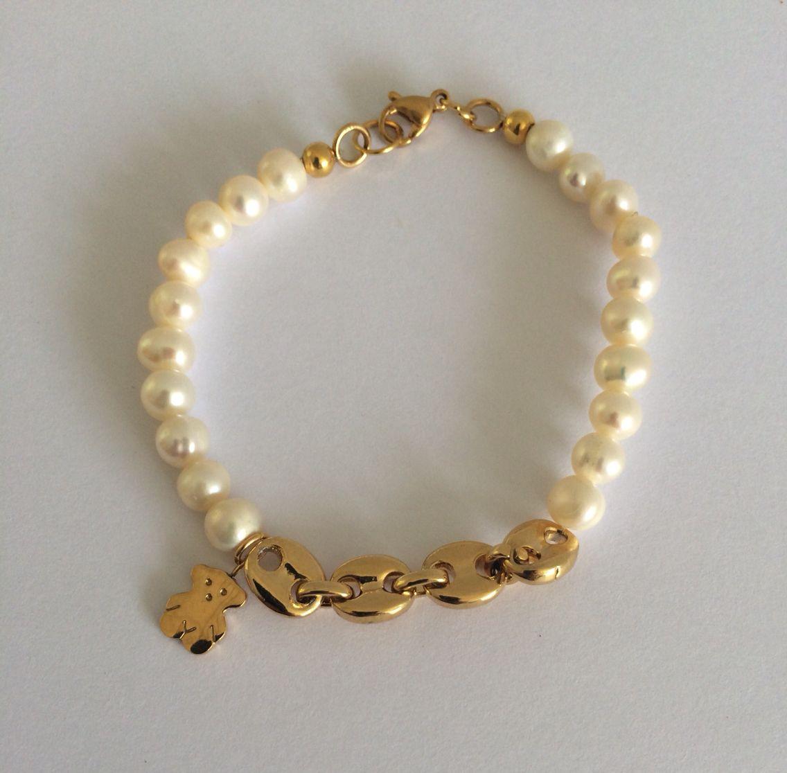 11c5cc622656 Pulsera de perlas del río  Tous