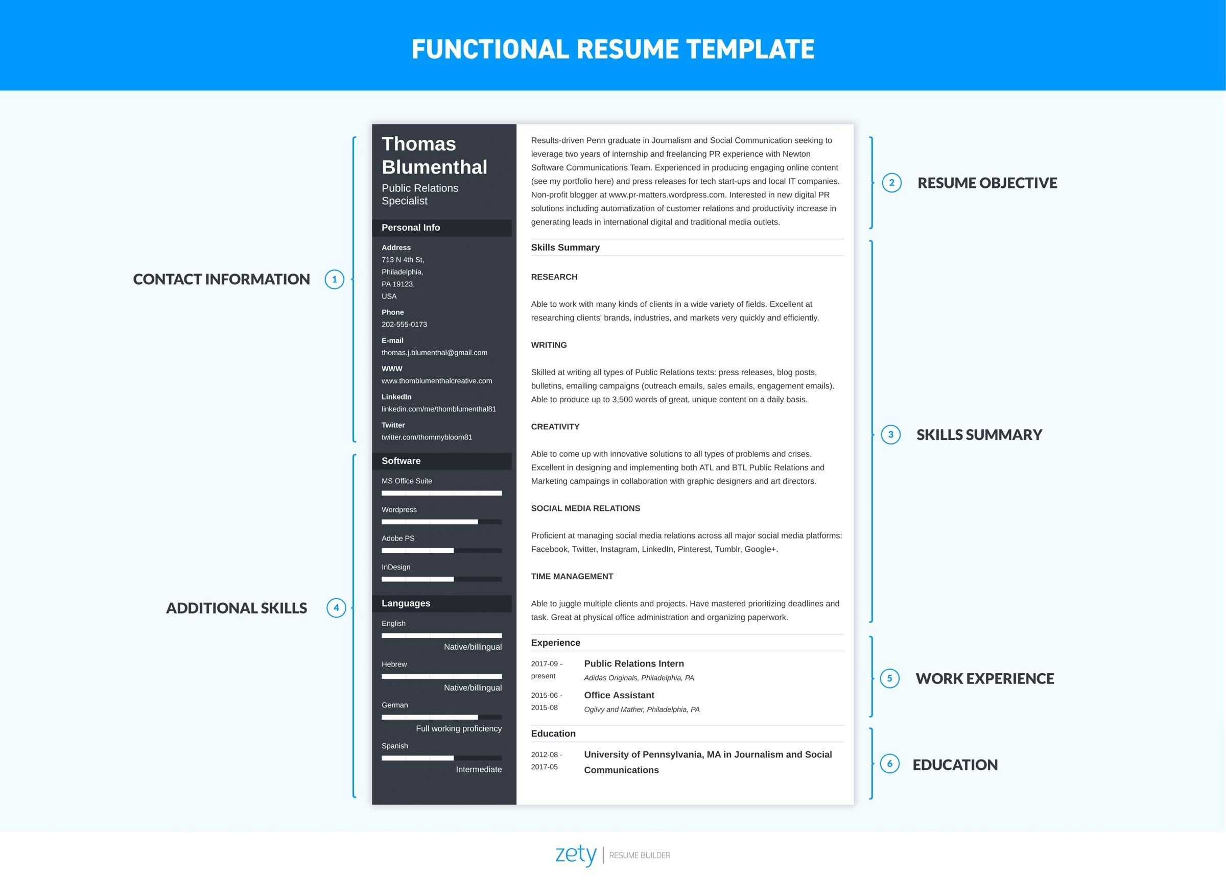 Functional Resume Examples & Skills Based Templates