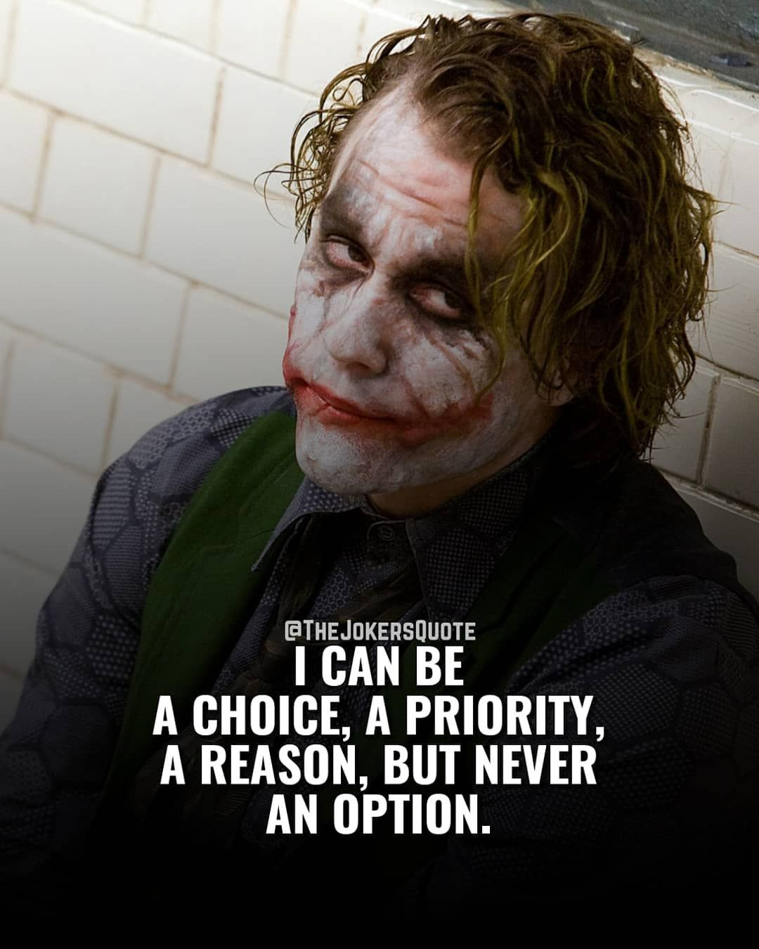 image contain person text joker quotes best joker