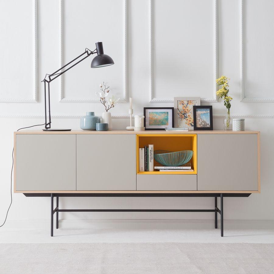 sideboard caspito  hellgrau  eiche in 2019  wohnzimmer