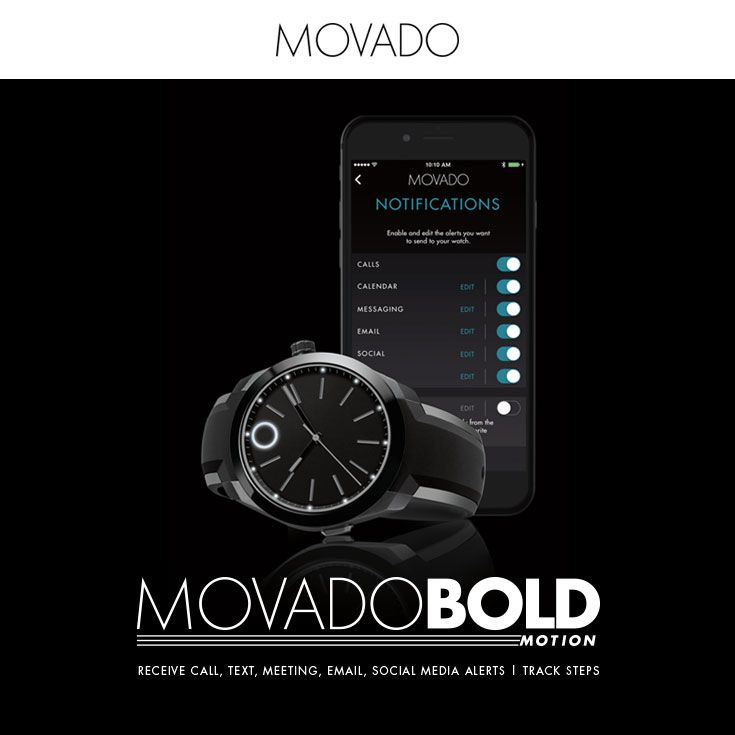 For the man that does it all, the Movado BOLD Motion smart watch ...