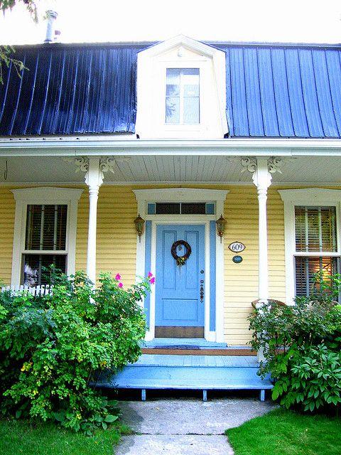 yellow house, black shutters!! | home stuff | pinterest | black