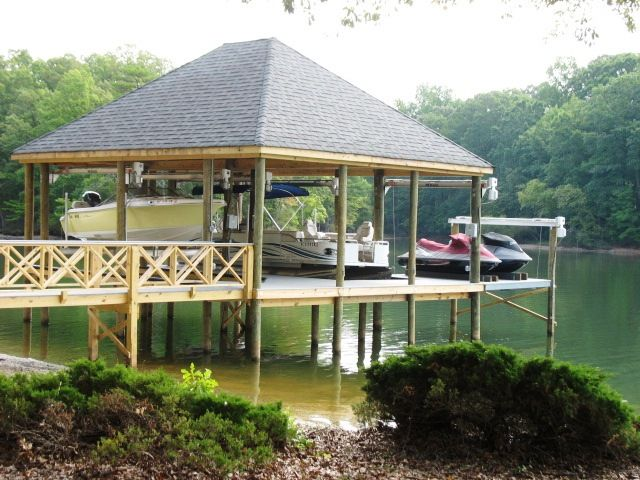 Dock Design Ideas beautiful boat dock with artificial waterfall Lakedocksdesign Lake Wylie Boat Docks Lake Wylie Boat Lifts