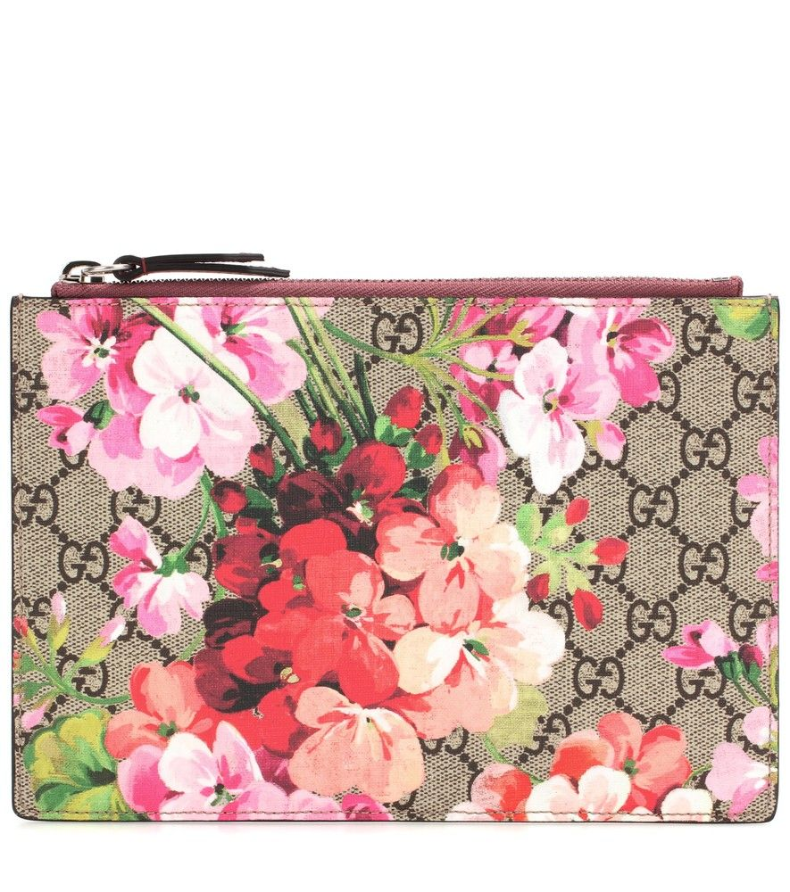 7e8034f998a4eb Gucci - Printed leather clutch - Embracing an outdoors theme this season,  Gucci's clutch features