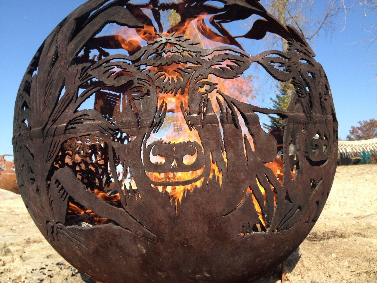 Fireball Fire Pits   Unique Handcrafted Wood Burning Steel Fire Pits.  Creative Handmade Artistic Expressions