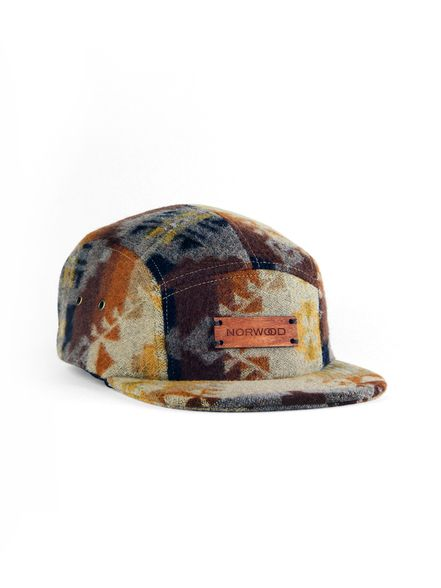 BROWN/GOLD BURNSIDE 5 PANEL CAP | norwoodusa.com