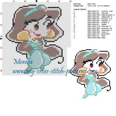 Schema punto croce Jasmine chibi 60x64 15 colori.jpg (1.53 MB) Osservato 1 volta
