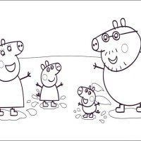Happiness Family Peppa Pig Coloring In Pages Peppa pig