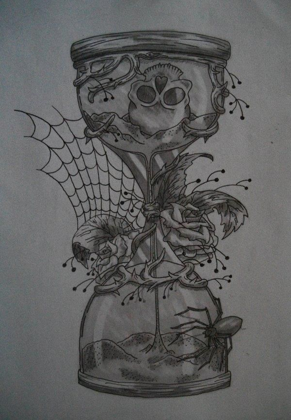 Hourglass Tattoo Design You Never Know When You Re Time Is Gonna