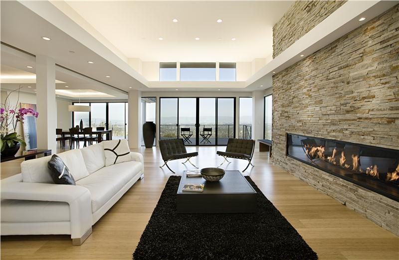 Open Contemporary Living & Family Room by Mark English | Inside a ...