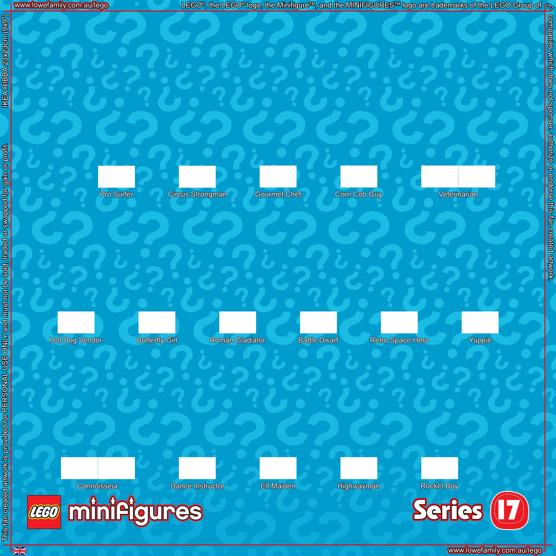 LEGO Minifigures Series 17 Background – Lowe Family | Lego Series 1 ...