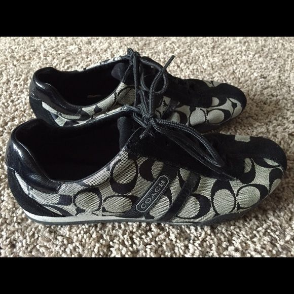 Coach sneakers Gently worn coach sneakers size 9 Coach Shoes Sneakers
