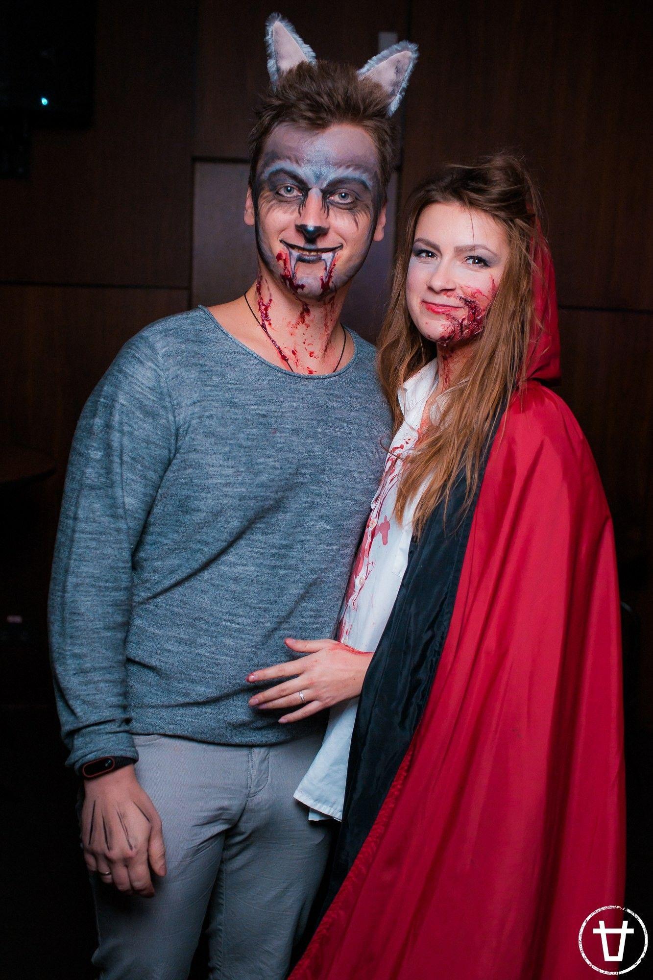 Красная шапочка и серый волк на Хэллоуин. Halloween ...