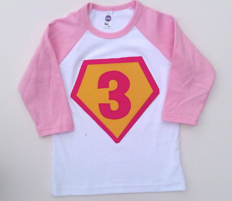 Superhero Birthday Shirt Boys Girls Tshirt For Cape Party 2800 Via Etsy