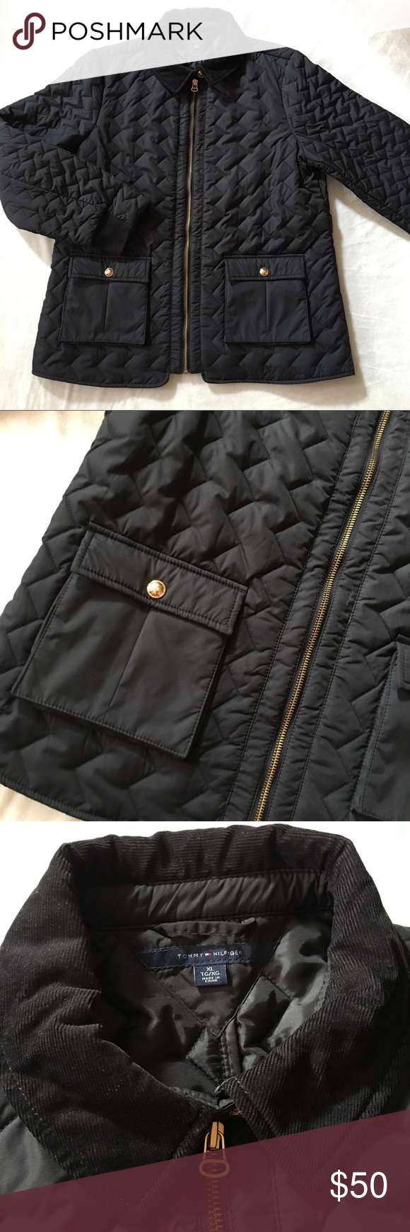 Tommy Hilfiger Puffer Jacket Sz XL Tommy Hilfiger Quilted ...