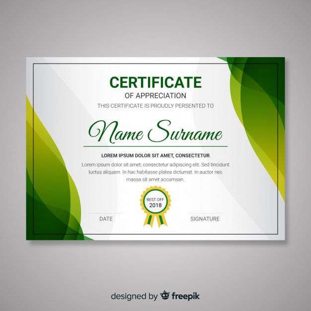 Certificate Template With Abstract Modern Shapes Free Vector Freepik Vector Freec Free Certificate Templates Certificate Design Template Free Certificates