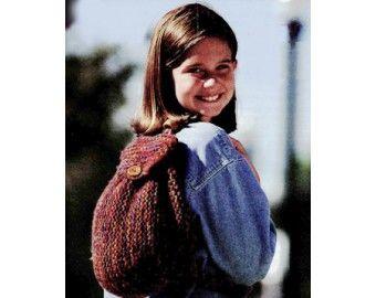Simple Garter Stitch Backpack Pattern