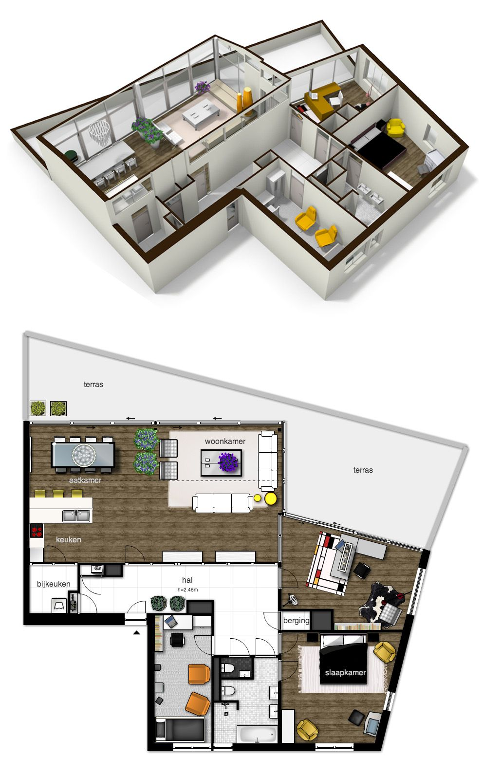 Great Apartment Plan Made In Floorplanner Com Small House Plans Floor Plans House Plans