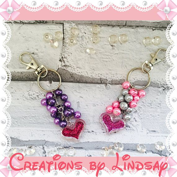 Personalised Handmade Beaded Key Rings Any name Dragonfly Charm Mum Nan