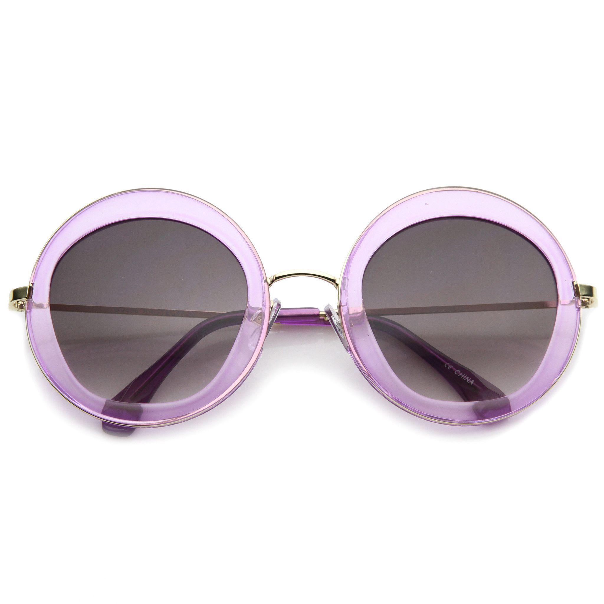 de053bb201 Women s Retro Penta Cut Gradient Lens Sunglasses A135