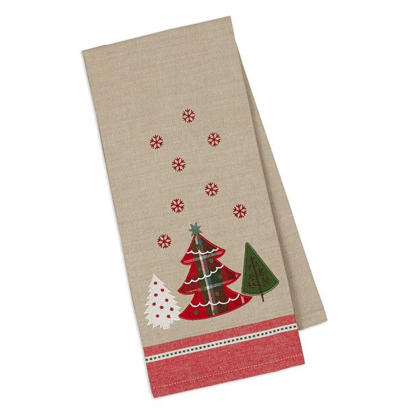 Merry Christmas Tree Embellished Dishtowel Christmas Gift Decorations Wholesale Gifts Wholesale Home Decor