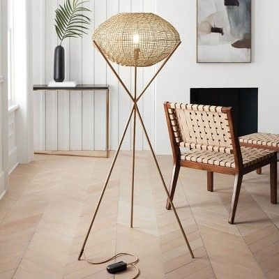 Sollerod Console Table Brass And Black Project 62 Lamps Living Room Decor Tripod Floor