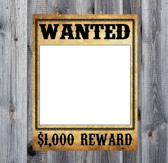 Wanted & Jail Poster Bundle - Western, Cowboy, Rodeo Birthday Party ...