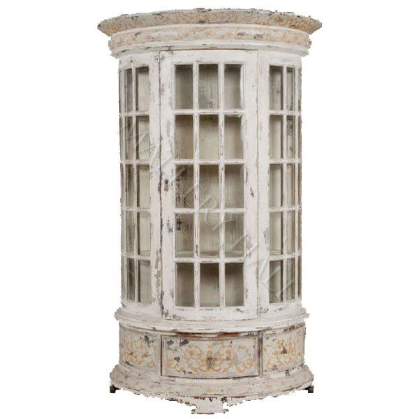 Vintage Round Curio Cabinet