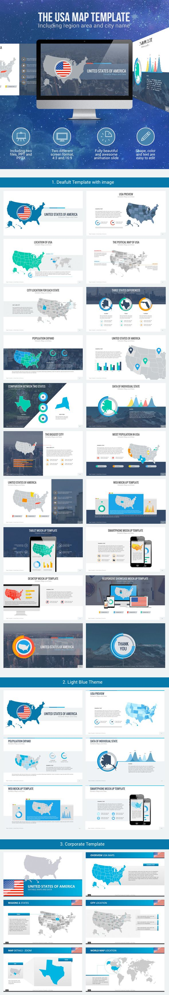 Usa Maps With Animation Animation Creative Powerpoint And Template