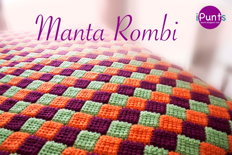 Tutorial Manta Rombi  Entrelac a crochet o ganchillo - YouTube