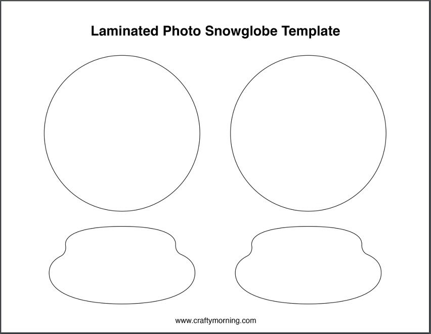 Free Laminated Snow Globe Template Crafty Morning Snow Globe Crafts Preschool Christmas Christmas Crafts