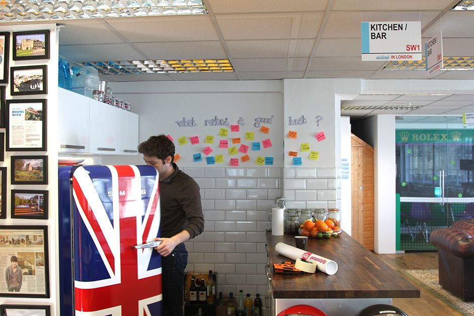 Airbnb Office Kitchenette Area In Creative Shoreditch Offices In